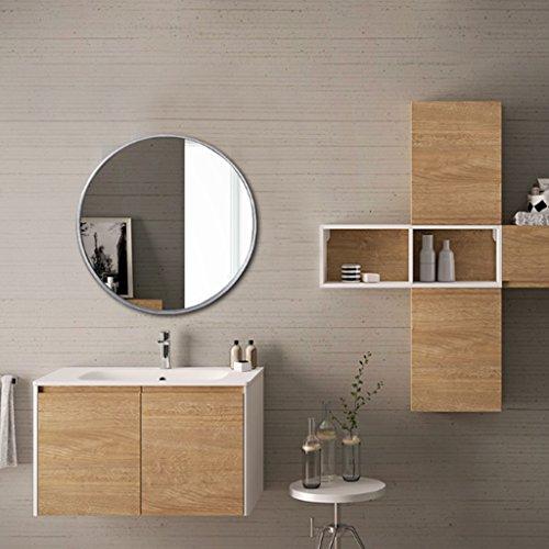 Miroir Rond Miroir De Salle De Bain Mural Miroir De Vanité Créatif Nordique (deux Couleurs Disponibles) (Couleur : SLIVER, taille : 60 cm)