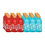 Gatorade G2 Thirst Quencher, Lower Sugar, Fruit Punch and Glacier Freeze Variety, 12 Ounce Bottles (Pack of 24)