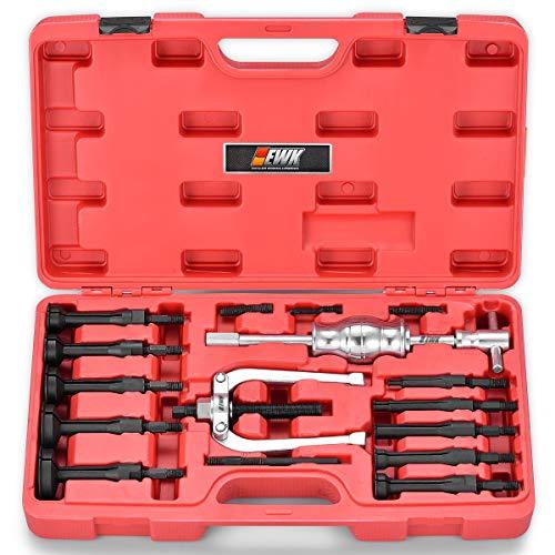 EWK 16 PCS Blind Bearing Puller Blind Hole Collet Bearing Race Seal Puller Removal Tool Slide Hammer Bearing Extractor Tool Kit