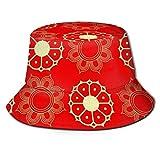 NA Sombrero del Sol del Cubo, Sombrero del Cubo del patrón Decorativo, Personalidad Transpirable importada Gorra de Sol única del Pescador para Trotar