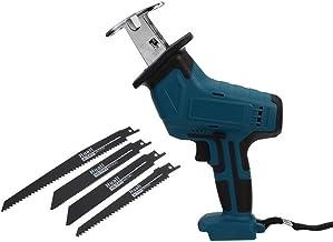 Sierra portátil inalámbrico alternativa eléctrica de la cuchilla de sierra sable kit de herramienta eléctrica Madera Metal de corte de cadena sin la batería (Color: Rojo) SKYJIE ( Color : Blue )