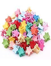 IKAAR 20 pinzas de pelo mini coloridas pinzas para el pelo con forma de estrella, accesorios para el pelo para niñas, color al azar