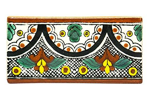 Piastrelle messicane, 5 x 10cm, fatte a manoin ceramica, prodotto del commercio equo e solidale