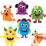 WATINC 5Pcs Monsters Active Felt Craft Kits Flexible Monster Magnet Art Crafts Creative Decorations for Home School Activity Party Supplies Birthday Gift for Boys Girls