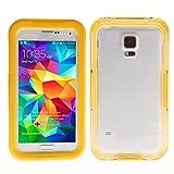 Banath Étui Étanche Coque Samsung Galaxy S5/i9600, IP68 certifié Housse Etui Imperméable Waterproof Full Body Edge Case Antichoc(Jaune)