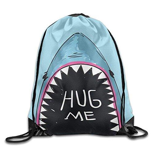 Borse da palestra Zaini Casual, Cool Drawstring Backpack Hug Me Whale Art Design Print Drawstring Backpack Rucksack Shoulder Bags Gym Bag Fashion