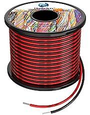 3,3 mm² - 1,3 mm² siliconen elektrische draadhaak-up kabel in totaal 20 meter [10 meter zwart en 10 meter rood] 12awg - 16awg zuurstofvrij bestand bestand tegen hoge temperaturen verijdelde vertind koperdraad, spoel