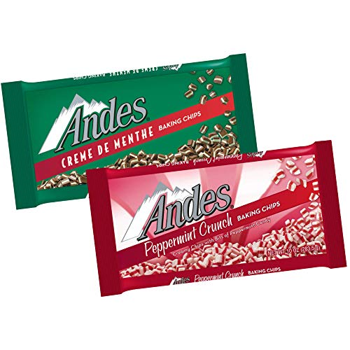 Andes Creme de Menthe Baking Chips + Andes Peppermint Crunch Baking Chips