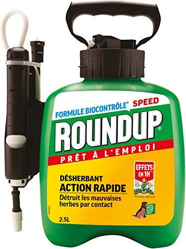 Roundup Désherbant Polyvalent avec Pulvérisateur à Pression, 2,5L