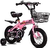 LEIXIN Bicicleta de los niños Bicicleta Plegable bebé Pedal de la Bicicleta 18 Pulgadas Bicicleta de Paseo niña Infantil for niños Bicicletas Freestyle Niños 2-8 años de Edad