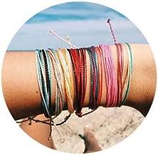 Joya Gift Handmade Adjustable Wrap Bracelet Bohemian String Braided Beads Anklets Gifts for Women Girls