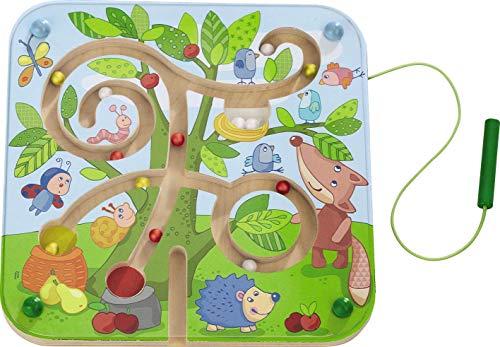 HABA 301057 Magnetspiel Baumlabyrinth, pädagogisches Holzspielzeug für Kinder ab 2 Jahren, schult die Logik und Feinmotorik