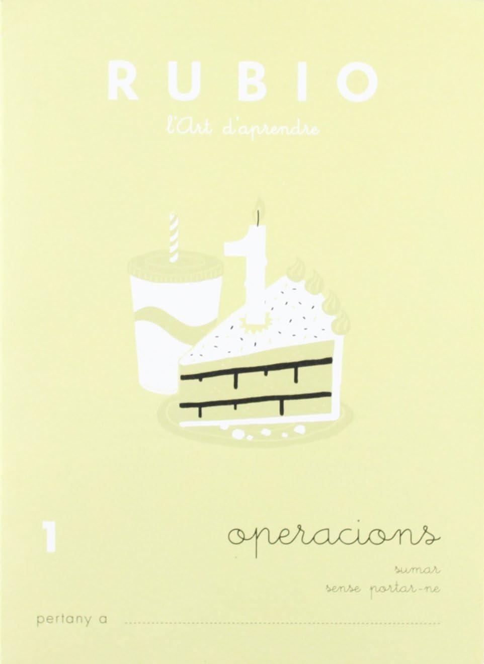Rubio OP1 CAT - Cuaderno operaciones (Operacions i Problemes RUBIO (català))