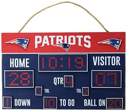 NFL New England Patriots Unisex Scoreboard Signscoreboard Sign, Team Color, One Size