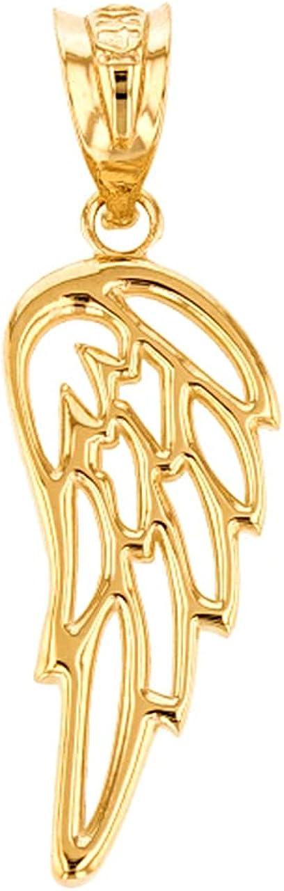 10K free Yellow White Rose Gold Guardian Filigree New Free Shipping Single Wing Angel
