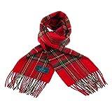 Clans of Scotland - Sciarpa in pura lana vergine, motivo Tartan Stewart Royal Taglia unica