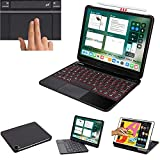 LENRICH iPad Pro 11 inch case with Keyboard 3rd 2021 2nd 2020 1st 2018 Backlit touchpad, 7 Color Backlight 360 rotatable Wireless Folio 180 Folio Smart Cover Hard Shell Stand Auto Sleep/Wake up Black