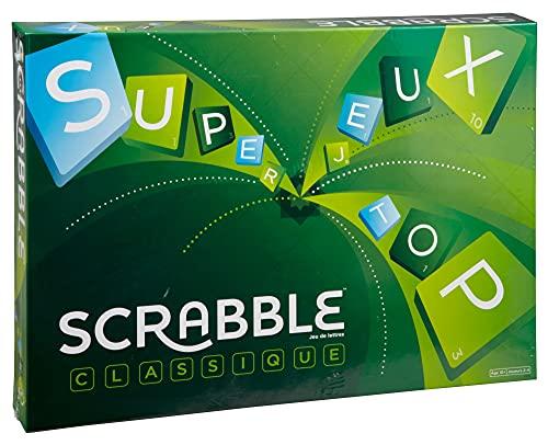 Mattel Games Y9598 - Scrabble Original Wörterspiel und Brettspiel geeignet für 2 - 4 Spieler, Familienspiele und Wortspiele ab 10 Jahren, Design kann variieren