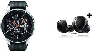 Samsung Galaxy Watch smartwatch (46mm, GPS, Bluetooth) – Silver/Black & Samsung Galaxy Buds+ Plus, True Wireless Earbuds w...