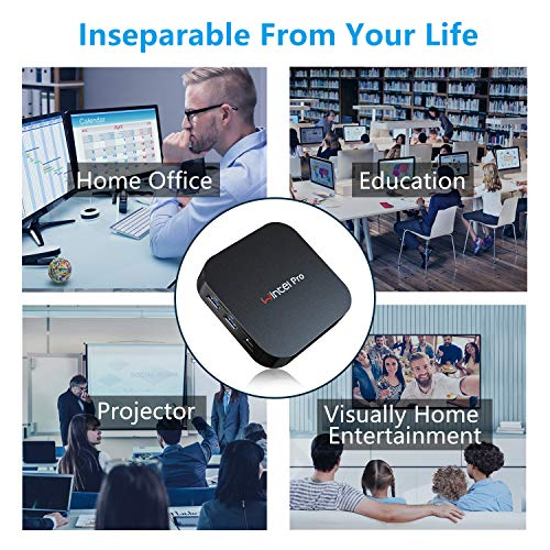 Mini PC Windows 10 Pro OS(64 Bits) with Intel Atom X5-Z8350 Processor HD Graphics 4GB RAM + 64GB Storage, Fanle   ss Mini Desktop Computer with Dual Band WiFi AC/Bluetooth 4.2,Ethernet and HDMI Port