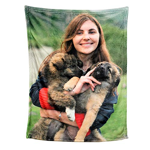 Personalized Throw Blanket. Custom Blanket with 1-9 Photo Collages. Customized Blankets for Family, Friends, Dogs or Pets, Used as Souvenirs and Gifts (32X48in(80x120cm), 1 Photos)