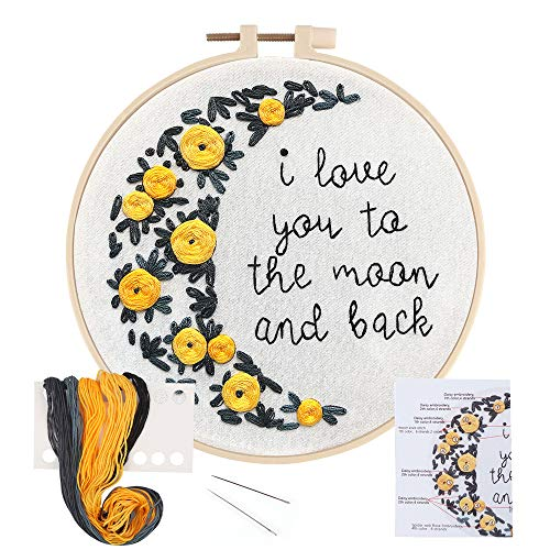 LIVEBOX Embroidery Kit for Beginners Cross Stitch Kits DIY Stamped Embroidery...