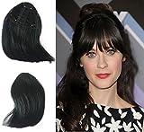 Clip In Hair Bangs Human Hair,Silmei Real Natural Looking Hand-tied...