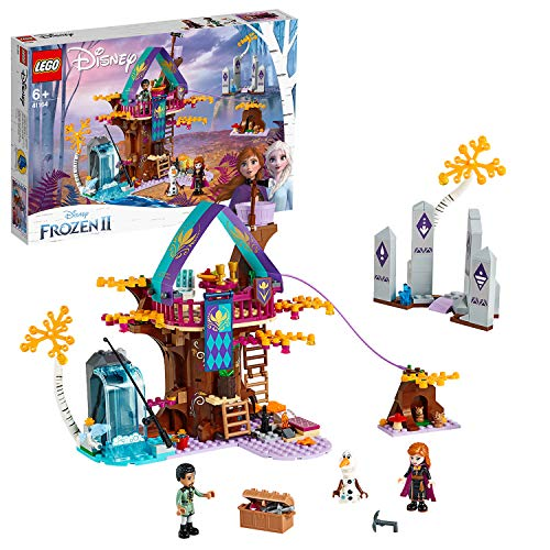 LEGO Disney Princess La cabane enchantée dans l'arbre Cabane à construire avec les célèbres personnages de La Reine des neiges 2 , 6 Ans et Plus, 302 Pièces 41164