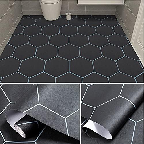 Swinno Adhesivo decorativo para suelo y azulejos, diseño de vetas de madera, autoadhesivo, adhesivo para suelo,...