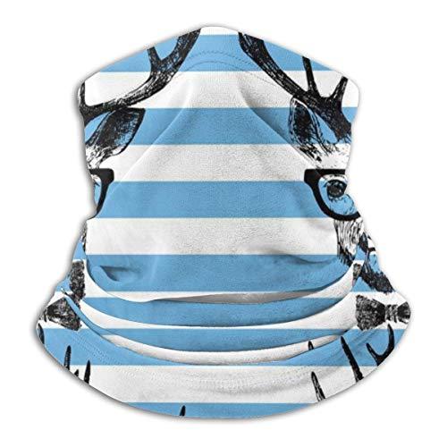 AEMAPE Ciervo Disfrazado Dibujado a Mano (2) Calentador de Cuello Sombreros Diademas Anchas Bufanda Envoltura para la Cabeza, Polaina para el Cuello, Bandana para la Cara