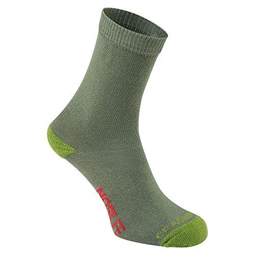 Craghoppers Unisex Kinder Nlife Kds Trv Twn Socken, Dkkhki/Spclm, 3-6