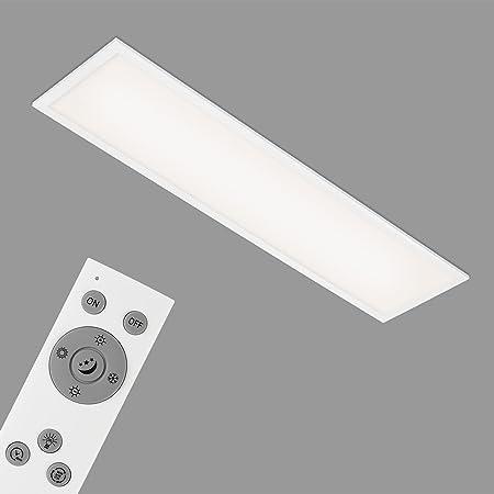 Briloner Leuchten Plafonnier LED rectangulaire encastrable blanc – Panneau LED 23 W dimmable – Température de couleur réglable par télécommande – Idéal pour le bureau ou le salon