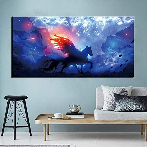 Kit Pittura Diamante 5D fai da te Taglia Larga Completo Full Drill Diamond Painting Cavallo K15 Mosaico Ricamo Cristallo Strass Punto Croce Arte Decor della Parete di Casa Trapano rotonda,100x200cm