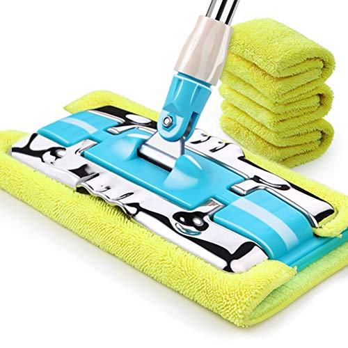 DIANZI Mop Flat mop huishouden platte drag massief houten vloer dweil roterende stof push mop flat plate mop