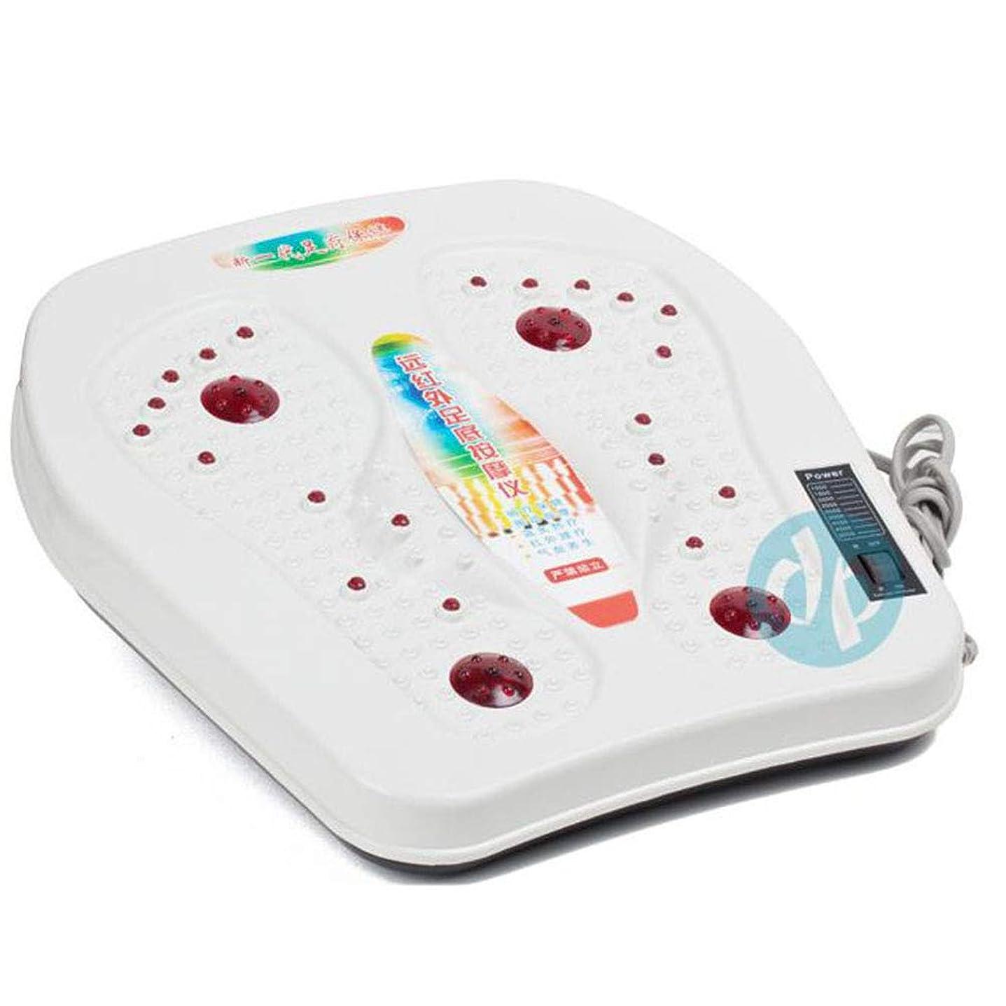 愛されし者力アルプス調整可能 足のマッサージ機、足指のマッサージと家庭でのストレス解消のための電気指圧式フットマッサージャー、オフィス リラックス, white