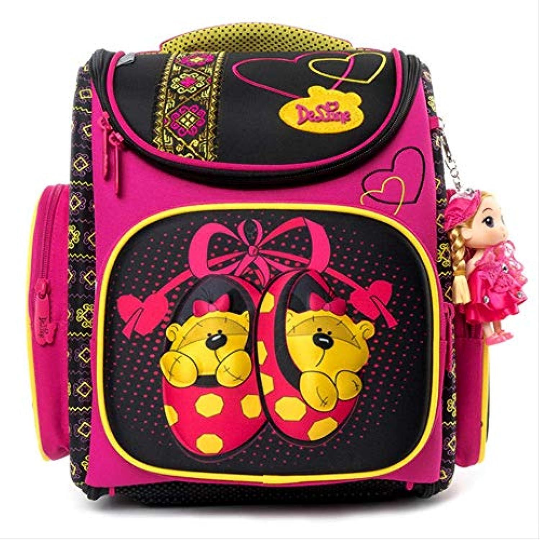 KHDJH Kinderrucksack Cartoon Schule Taschen Rucksack für Mdchen Jungen Br Design Kinder Orthopdische Rucksack I 3-142