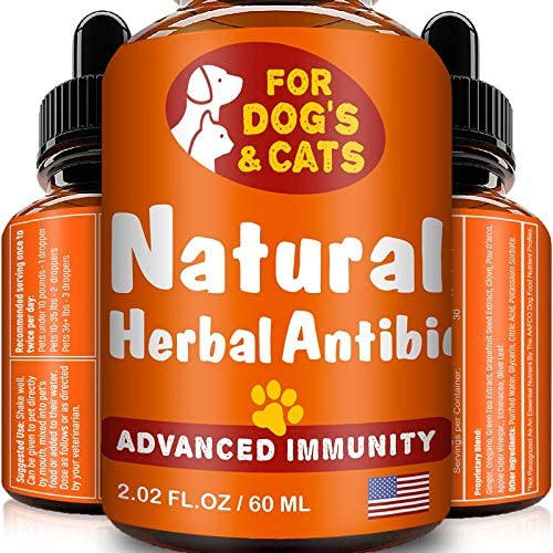 FurFinds Natural Herbal Immune Drops for Dogs and Cats Homeopathic Supplement for Pets Immune product image