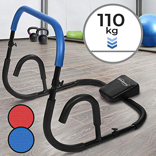bon à choisir Physionics Abs Strength Trainer – Appui-tête souple 68x64x64cm Rouge ou Bleu – AB Trainer, Abdominal Trainer, Fitness Equipment, Home Training
