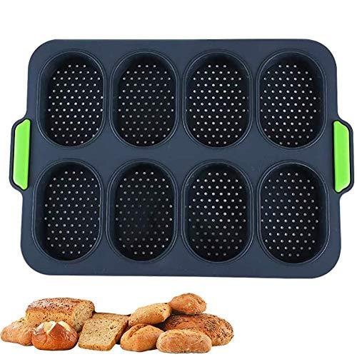 iSpchen Silikon-Kuchenformen zum Backen von Brotschalen Antihaft-Backzubehör Beschichtetes Brot Backform Kuchen-Toast-Backblech für die Küche zu Hause