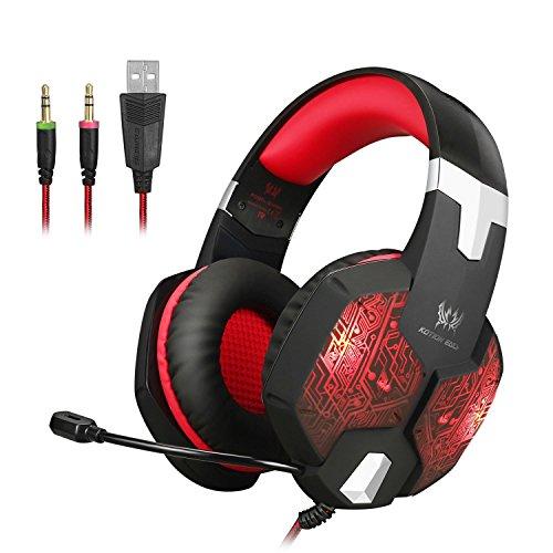 KOTION EACH Auriculares para jueguos con Microfono G1000 Profesional para...