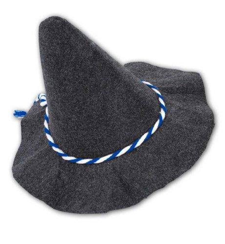 Carnaval chapeau 38252 simplet-cordon de serrage bleu-blanc sepperlhut neuf/emballage d'origine