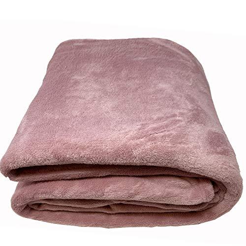 JEMIDI XL Tagesdecke Microfaser Bett & Sofaüberwurf 220cm x 240cm Bett & Sofaüberwurf Bettüberwurf Sofa Tages Decken Betthusse XXL Decke Altrosa