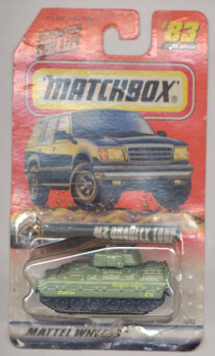 Matchbox 1999-83/100 Series 17 Military Patrol GREEN M2 Bradley Tank 1:64 Scale