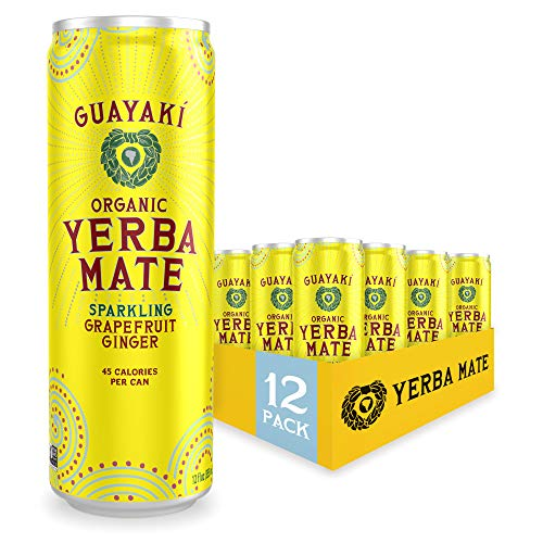Guayaki Yerba Mate, Grapefruit Ginger, Organic Sparkling Alternative...