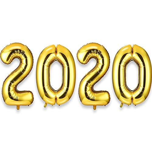 Gejoy Riesige Gold Nummer 2020 Luftballons Sets 40 Zoll Aluminium Folie Luftballons Frohes Neues Jahr Luftballons Dekorationen Party Lieferungen