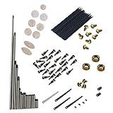 Gazechimp 1 Conjunto de Muelles Tornillos Tuercas con Botónes Teclas Herramienta para Saxofón Recambios
