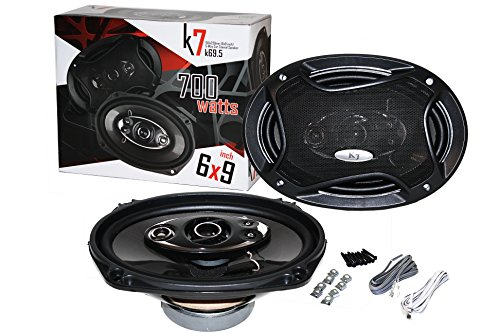 """K7 PAIR OF K69.5 6x9-INCHS 6""""x9"""" 700W 5-WAY CAR COAXIAL PROFESSIONAL HIGH PERFORMANCE SPEAKER SYSTEM"""