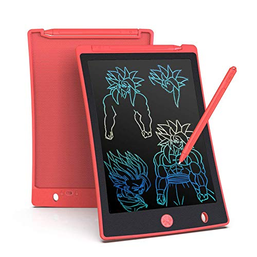 Arolun Tableta de Escritura LCD 8.5 Inch Colorida, LCD Tablero de Dibujo Gráfica Pizarra Magica de Mensaje Memo Pad Electrónico con Lápiz Regalos para Niños,Clase,Oficina,Casa,Cocina (Rojo)