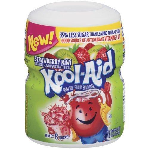 Kool Aid Strawberry Kiwi Sugar Sweetened, 19-Ounce (Pack of 4)