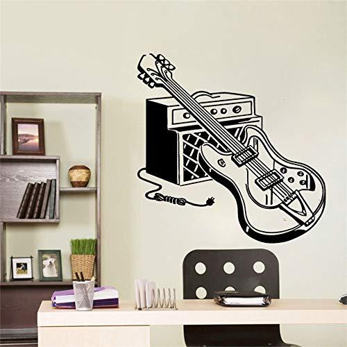 Colorido guitarra eléctrica pegatina de pared decoración para habitaciones de niños decoración impermeable sala de estar pared arte calcomanía decoración A3 57x57cm